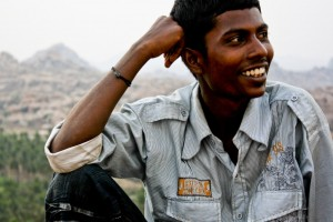 Muttu Kumar: Tour guide and postcard salesman in Hampi, India